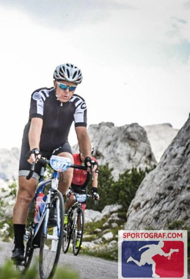 Massimo e la sua Bianchi alla Ddles Dolomites 2018