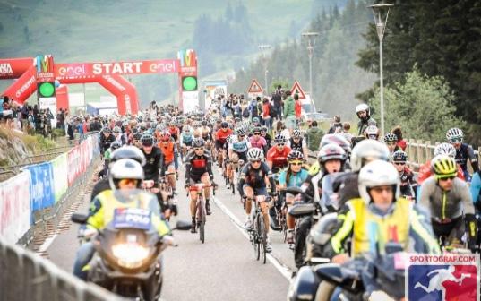 Partenza Maratona Ddles Dolomites 2018